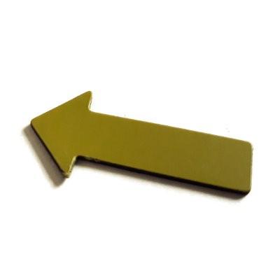Pfeile 40x20 mm, Bogenware aus Magnetfolie, gelb
