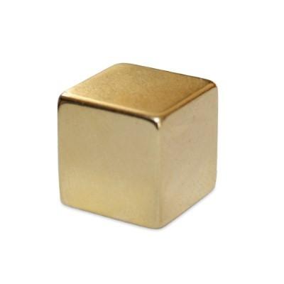 Würfelmagnet 10 mm N48 Gold
