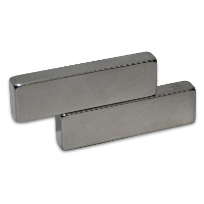 Quadermagnet 35x10x5 mm N42 Nickel