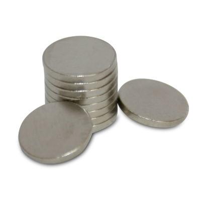 Scheibenmagnet 8x1 mm N45 Nickel