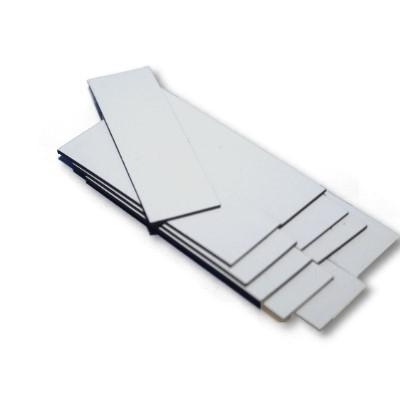10 Magnetbandzuschnitte weiß 30x100 mm