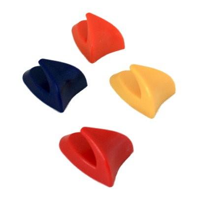 4 Hakenmagnete farbig
