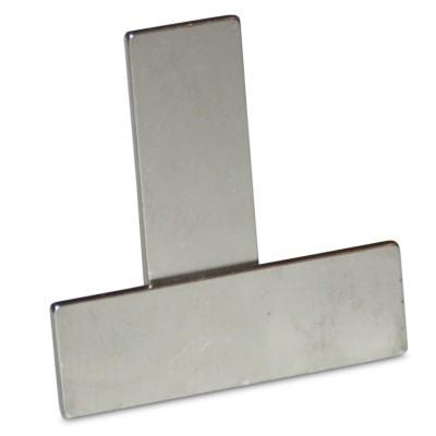 Quadermagnet 25x8x1 mm N48 Nickel
