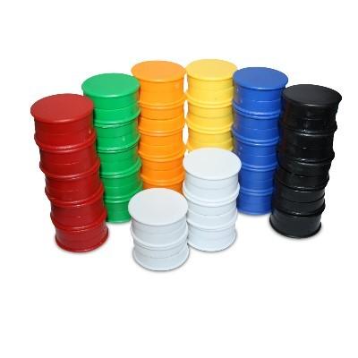 10 Kunststoffmagnete 25 mm Ferrit, 6 Farben wählbar