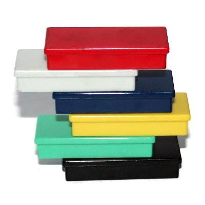 Kunststoffmagnet 50x23 mm Ferrit, 6 Farben wählbar