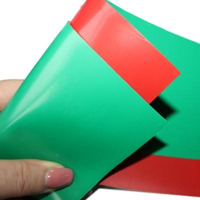 Wendemagnetfolie 300x100 mm rot und grün