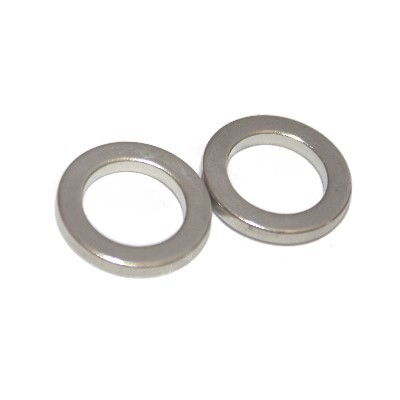 Ringmagnet 15x10x2 mm N42 Nickel
