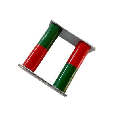 Set: 2 Stabmagnete 10x38 mm Al5 rot-grün mit Joch