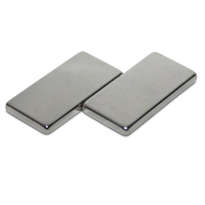 Quadermagnet 20x10x2 mm N45 Nickel