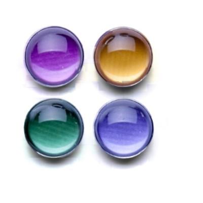 4-tlg. Set: Halbkugeln Acryl mit Neodym, Farbmix I