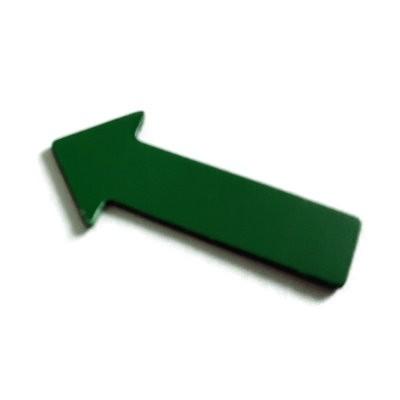 Pfeile 40x20 mm, Bogenware aus Magnetfolie, grün