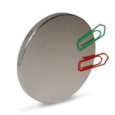 Scheibenmagnet 60x5 mm N42 Nickel