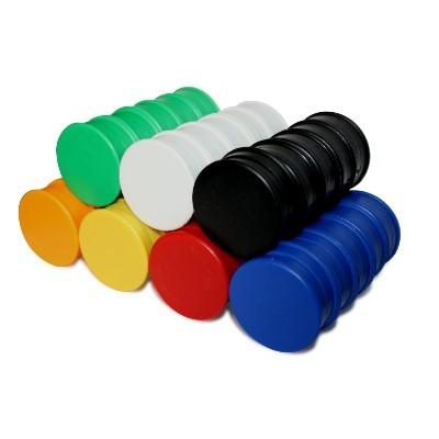 10 Kunststoffmagnete 30 mm Ferrit, 6 Farben wählbar
