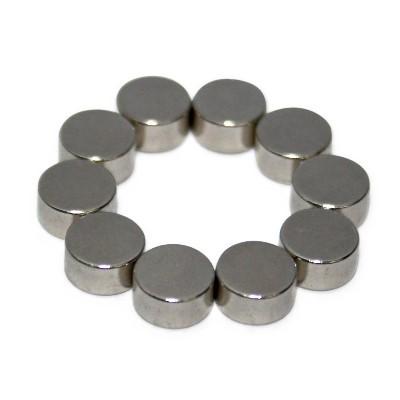Scheibenmagnet 6x3 mm N52 Nickel extra stark