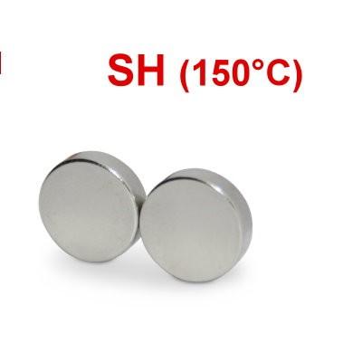 Scheibenmagnet 10x3 mm N44SH Nickel - hocherhitzbar