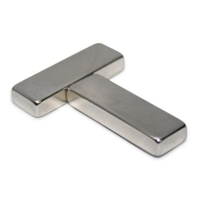 Quadermagnet 30x10x5 mm N45 Nickel