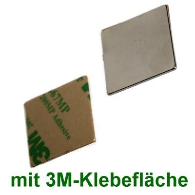 10 Quadermagnete 25x25x1 mm selbstklebend