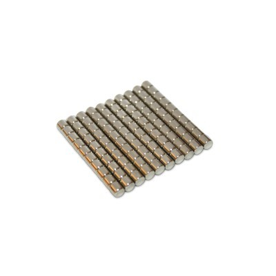 100 Stabmagnete 1x1 mm N52 Nickel
