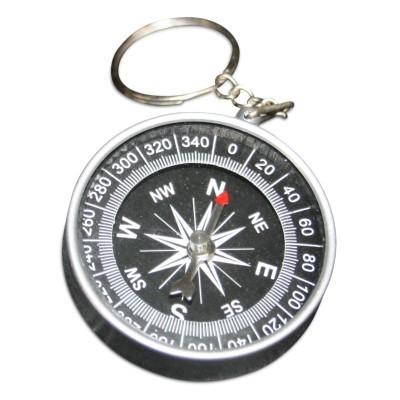 Kompass 40 mm mit Schlüsselring