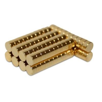 Scheibenmagnet 4x2 mm N45 Gold