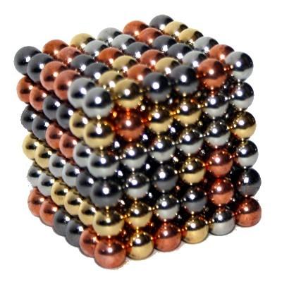 216 Kugelmagnete 5 mm vier Beschichtungen im Supersparset