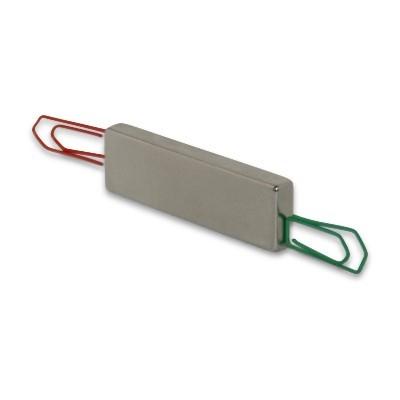 Quadermagnet 50x15x6 mm N42 Nickel - Magnetisierung durch die Länge