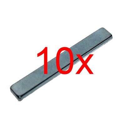 10 Quadermagnete 60x8,85x2,6 mm N52 Zink zum Sonderpreis