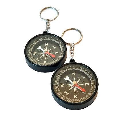 Kompass 45 mm mit Schlüsselring