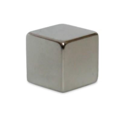 Würfelmagnet 10 mm N48 Nickel