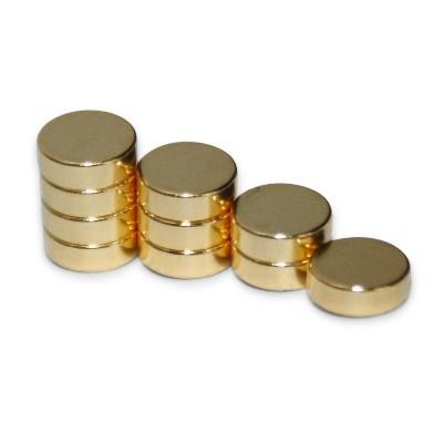 Scheibenmagnet 6x2 mm N45 Gold