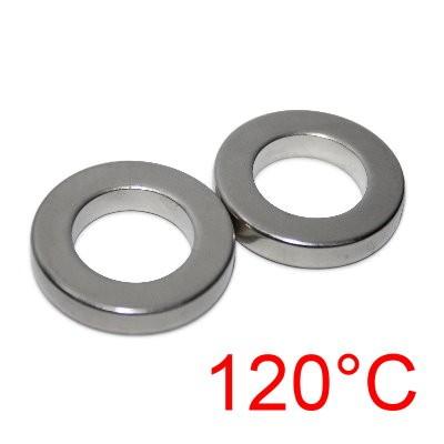 12 Ringmagnete 27x16x5 mm Nd Ni erhitzbar bis 120°C