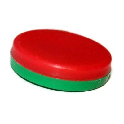 Scheibenmagnet 24x6,2 mm Neodym rot-grün