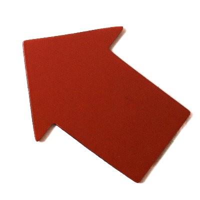 Pfeile 50x38 mm, Bogenware aus Magnetfolie, rot