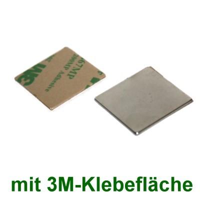 10 Quadermagnete 20x20x1 mm selbstklebend