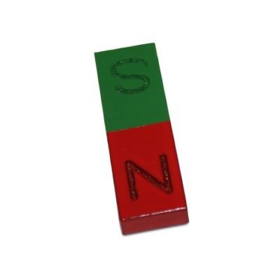Quadermagnet 50x15x6 mm Al5 rot-grün