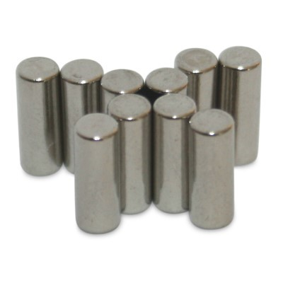 Stabmagnet 3x8 mm N48 Nickel