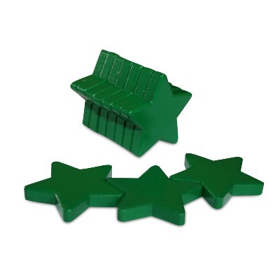10 Sternmagnete Ferrit, grün lackiert