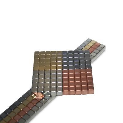 100 Würfelmagnete 5 mm N42 in vier Beschichtungen