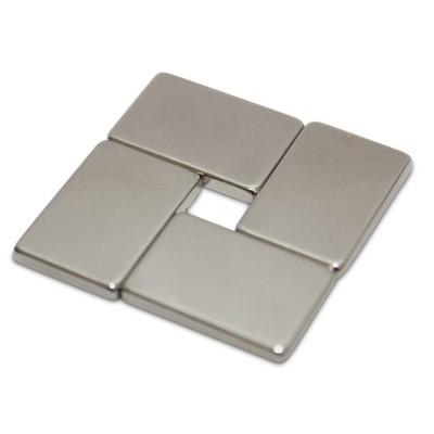 Quadermagnet 15x10x2 mm N45 Nickel