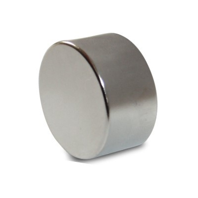 Scheibenmagnet 30x15 mm N40 Nickel