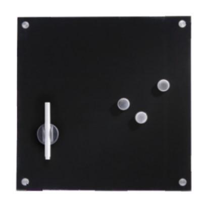 Glasboard schwarz 40x40 cm