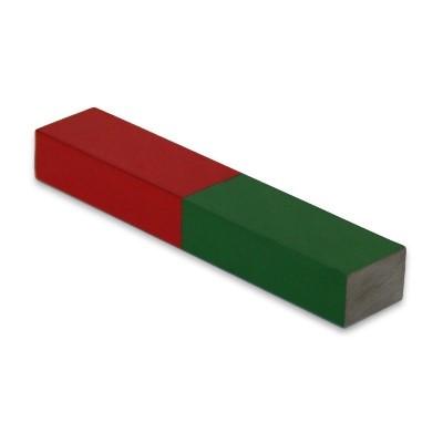 Quadermagnet 75x15x10 mm Al5 rot-grün