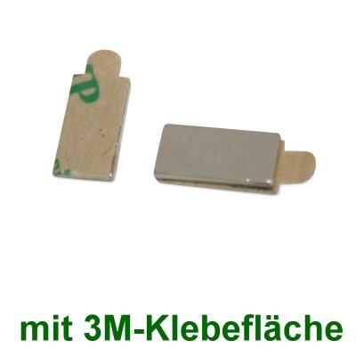 20 Quadermagnete 10x5x1 mm selbstklebend