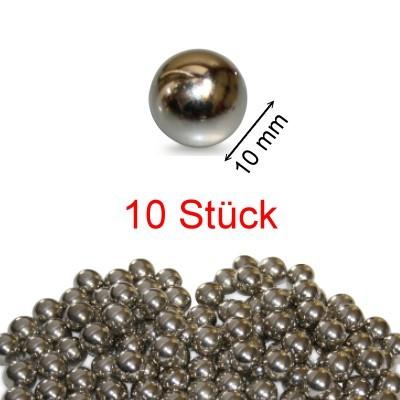 10 Stahlkugeln 10 mm ungehärtet