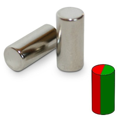 Stabmagnet 6x13 mm N45 Nickel diametral