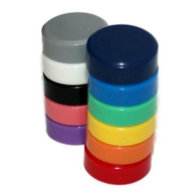 Kunststoffmagnet 30 mm Neodym, 11 Farben wählbar