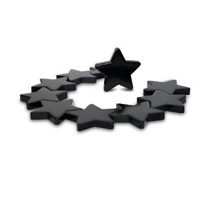 10 Sternmagnete Ferrit, schwarz lackiert