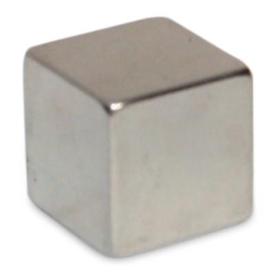 Würfelmagnet 20 mm N42 Nickel