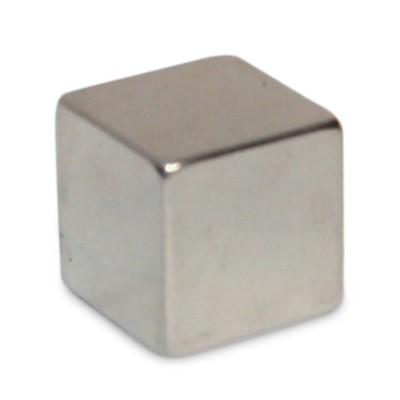 Würfelmagnet 15 mm N42 Nickel