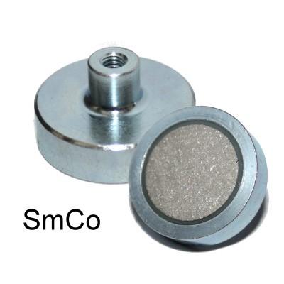 Topfmagnet 25 mm Typ D, E oder F mit SmCo